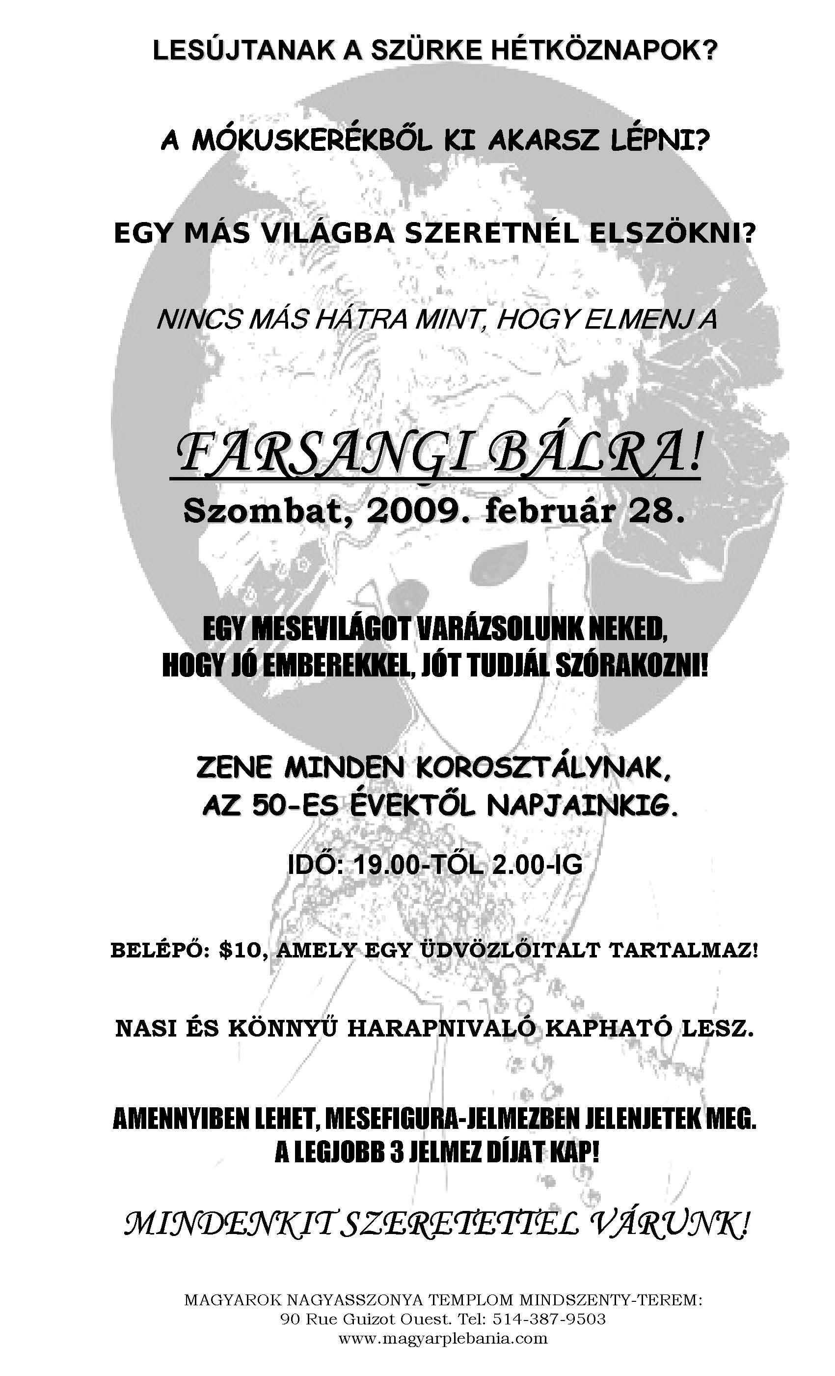 Magyar farsangi bál Montreálban