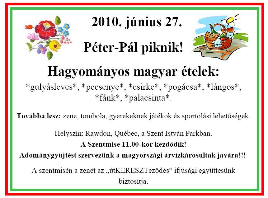 Hagyományos Péter-Pál piknik Rawdonban