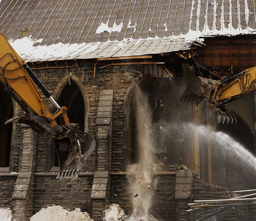 Montreál eltűnő öröksége – lebontották a Saint Sauveur templomot
