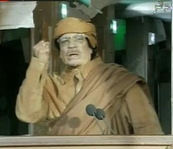 Muammar Gaddafi uszít Tripoliban
