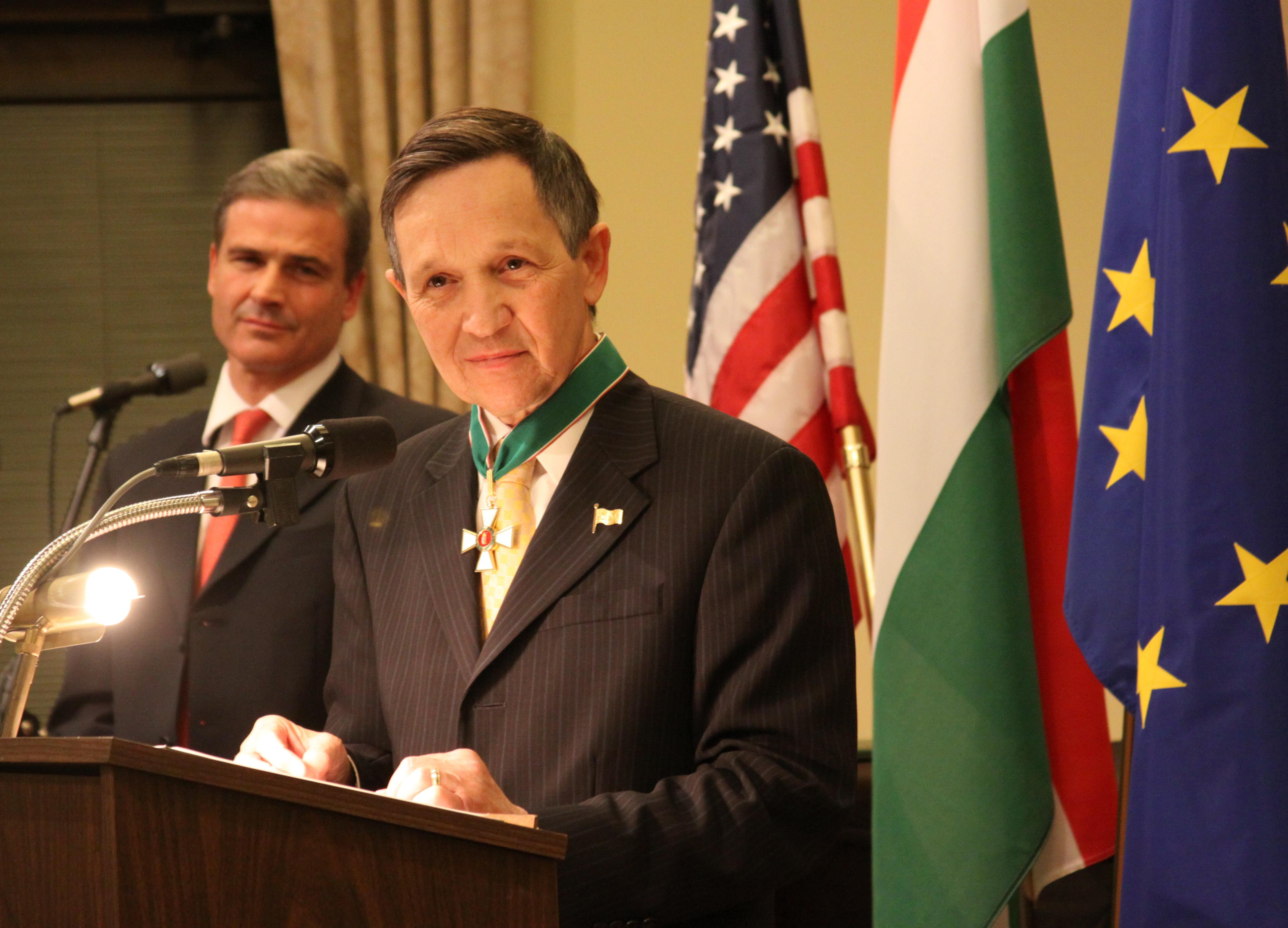 Kucinich demokrata képviselő üdvözölte a magyar közösségeket március 15-én