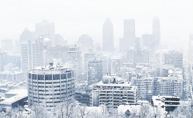 Hóvihar dél-Ontarioban és Québecben