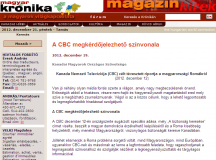 A KMOSZ cikke a montreáli Magyar Krónikában
