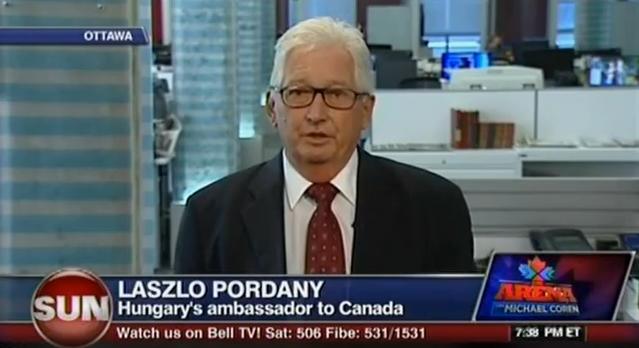 Pordány László, az Orbán kormány ottawai nagykövete