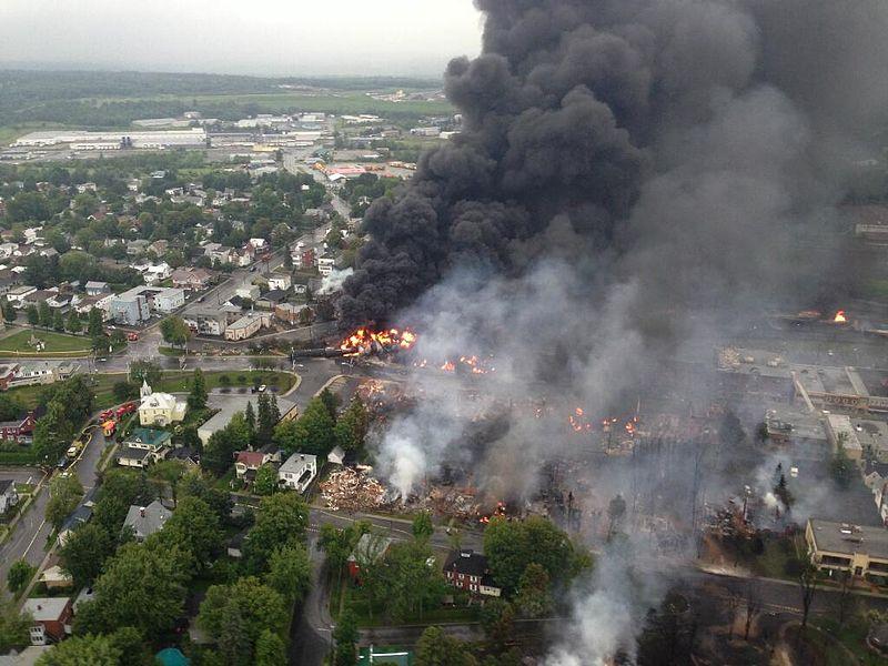 Szinte teljesen elpusztult Lac-Mégantic városközpontja