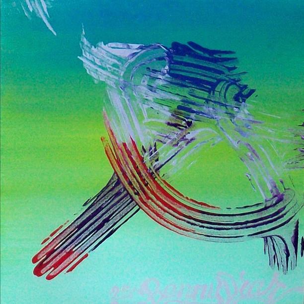 Egy tolószék kerekeivel készitett festmény / Benny Diar