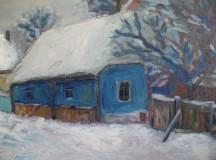 Falusi ház télen