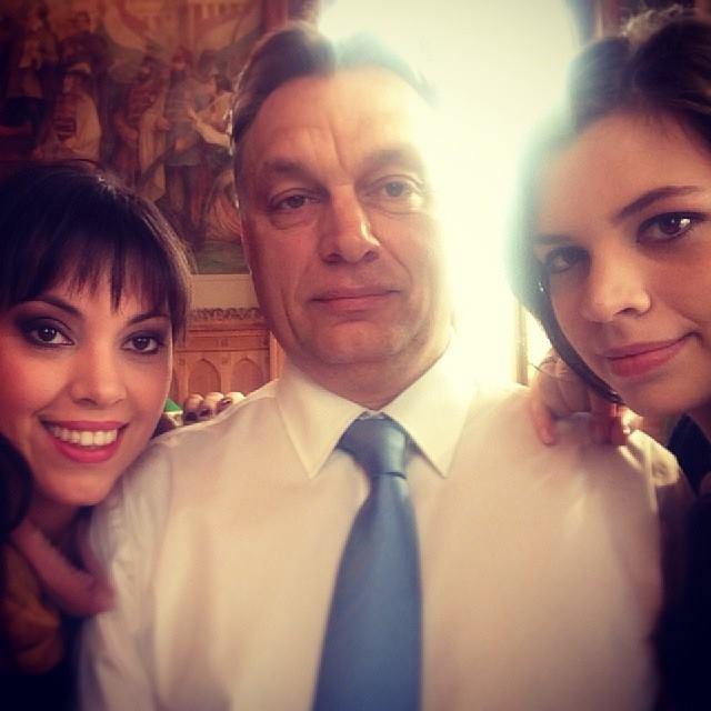 Orbán-szelfi (Fotó: Facebook)