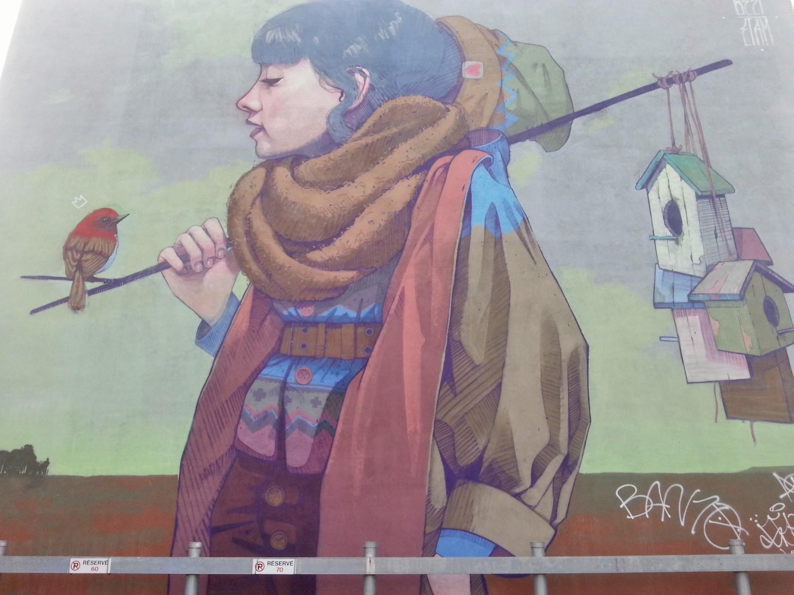 Utazó...Street art a Plateau-ban...