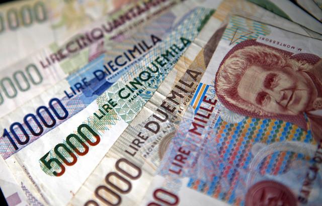 Az olasz lira 1999 előtt.