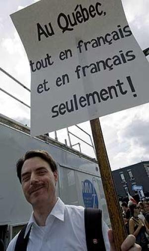 """""""Québecben mindent franciául is kizárólag franciául!"""""""