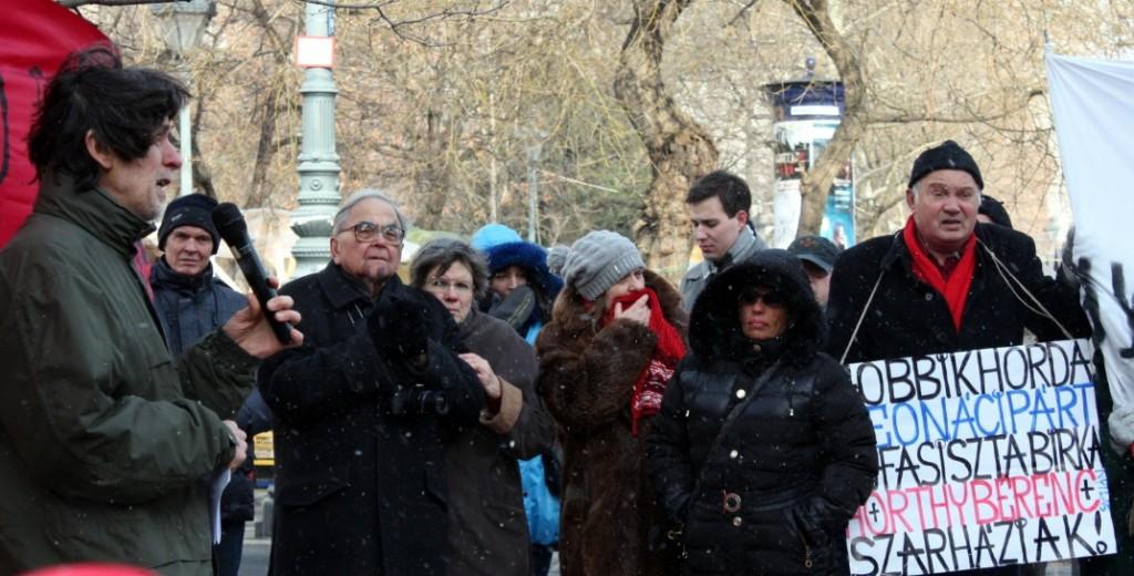 No More Racism tüntetés Budapesten 2015. február 8-án. Fotó: Kardos Dániel.