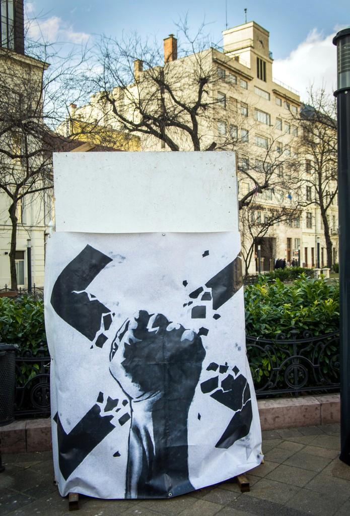Kelj fel a rasszizmus ellen! Fotó: Molnár B. Balázs.