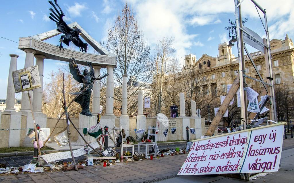 Szabadság tér 2015. február 8-án. Fotó: Molnár B. Balázs