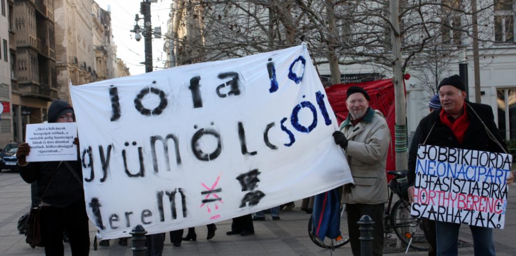 No More Racism tüntetés a Szabadság téren. Fotó: Róna Péter.