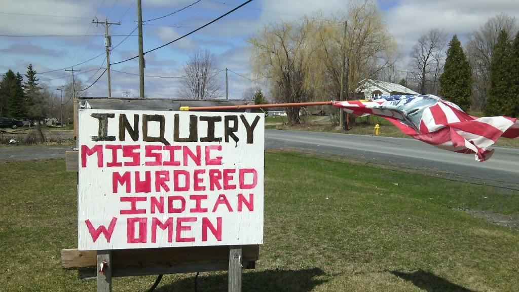 Kanadai vizsgálóbizottságot követelnek Akwesasne-ben a meggyilkolt és eltűnt nők érdekében. Fotó: Christopher Adam/KMH.