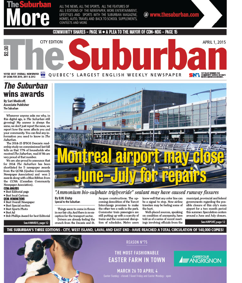 A The Suburban hírhedt címlapja...az április tréfával.