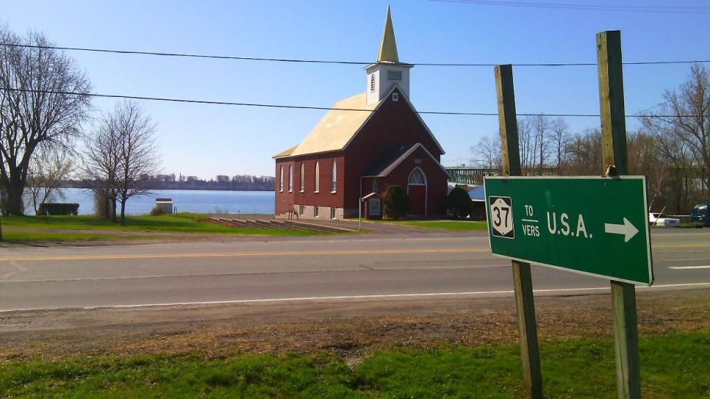 USA, erre! Johnstown, Ontario. Egy csendes falú Kanada és az Egyesült Államok határán. Fotó: Christopher Adam/KMH.
