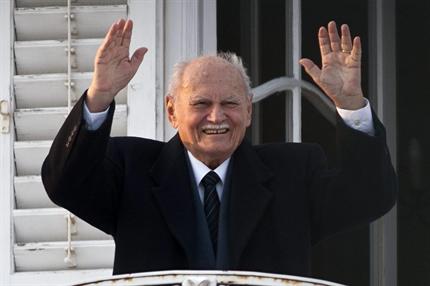 Göncz Árpád 90. születésnapján. Fotó: Hir 24.
