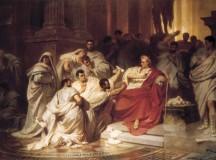Morte di Giulio Cesare.  Vincenzo Camuccini, 1798.