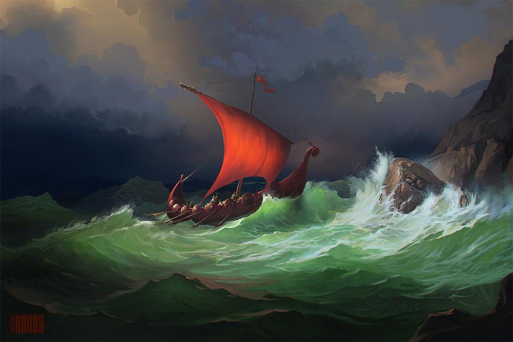 Boat in a storm / RHADS/DeviantArt.