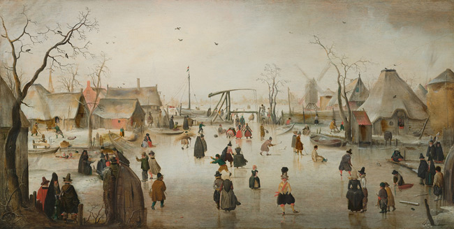 Ice age village / Hendrick Avercamp. National Gallery of Art.