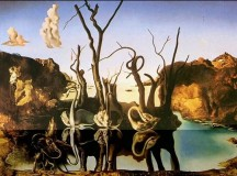 Swans Reflecting Elephants by Salvador Dali.