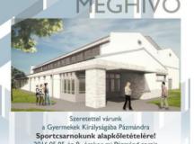 Új sportcsarnok épül egy magyar vidéki kistelepülésen...