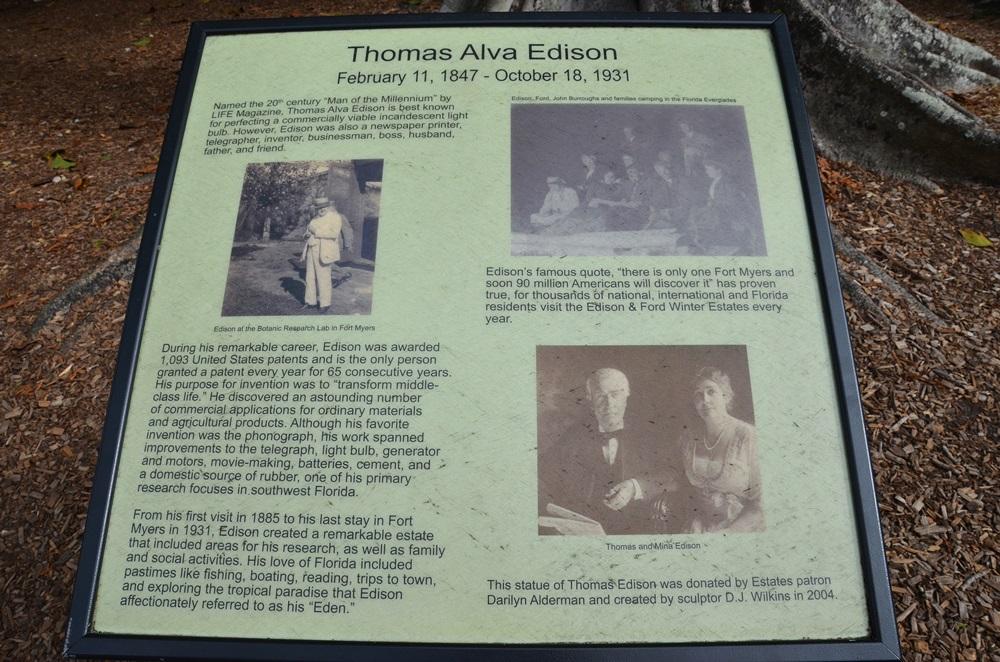 Edison ház kertje —  Fort Myersben