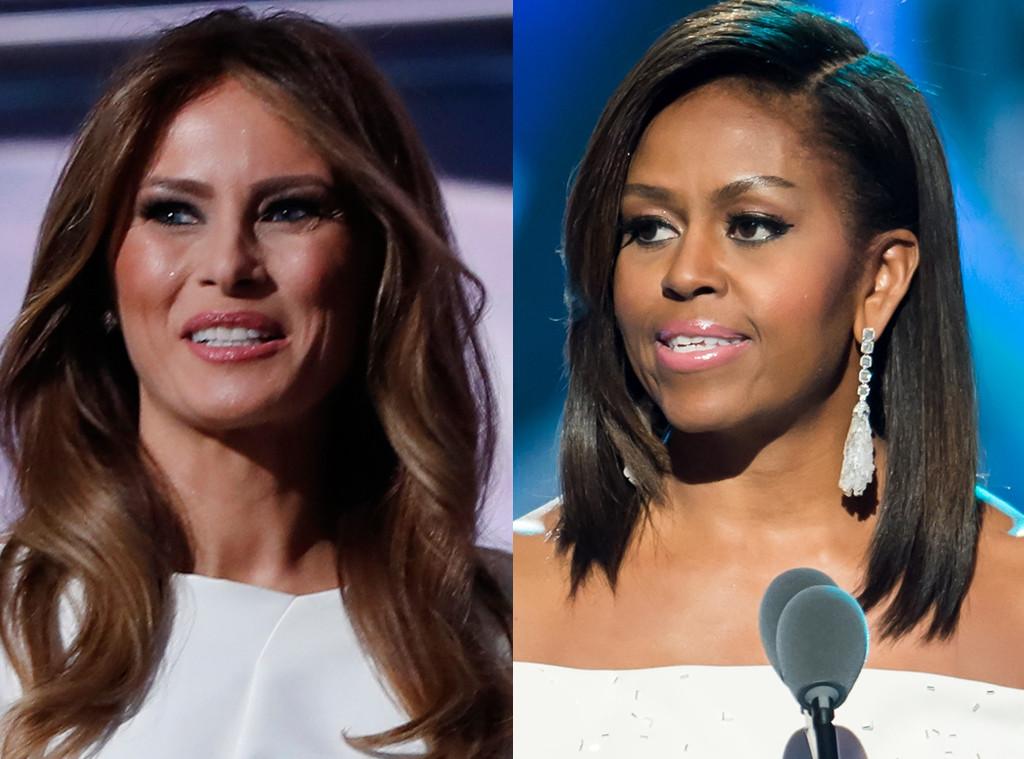 Melania Trump és Michelle Obama