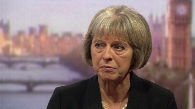 Theresa May. Fotó: BBC.