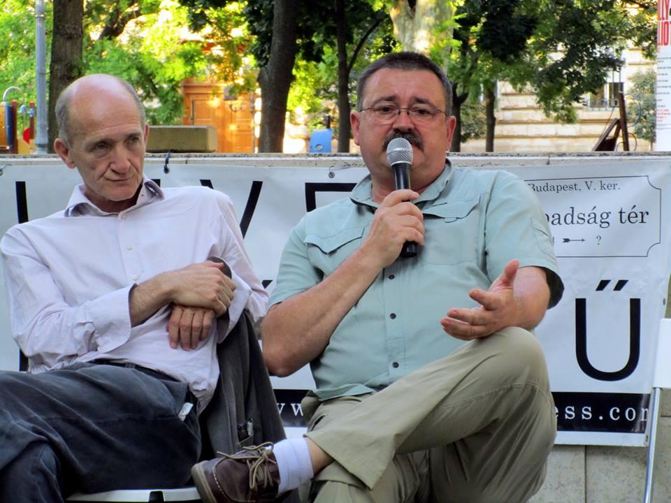 Eleven Beszélgetés - 2016. június 28. Gerlóczy Ferenc és Novák József. Fotó: Bassa László.