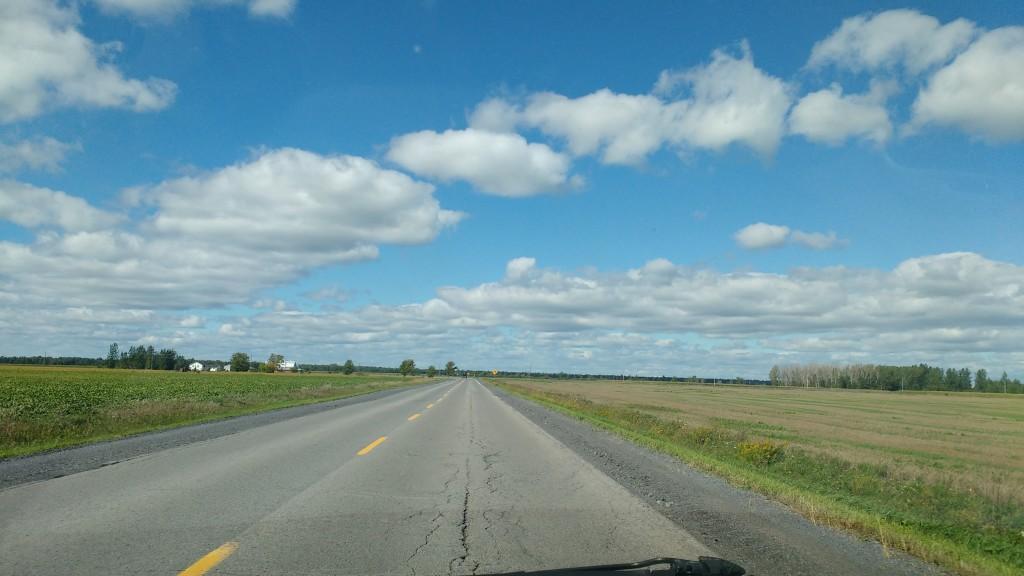 Igy fest a kelet-Ontario-i táj, kocsim szélvédőjén keresztül. Fotó: Christopher adam