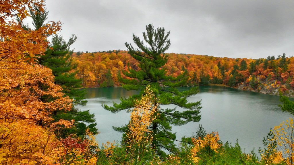 Rózsaszín-tó, ami valójában zöld — Őszi képek Kanadából