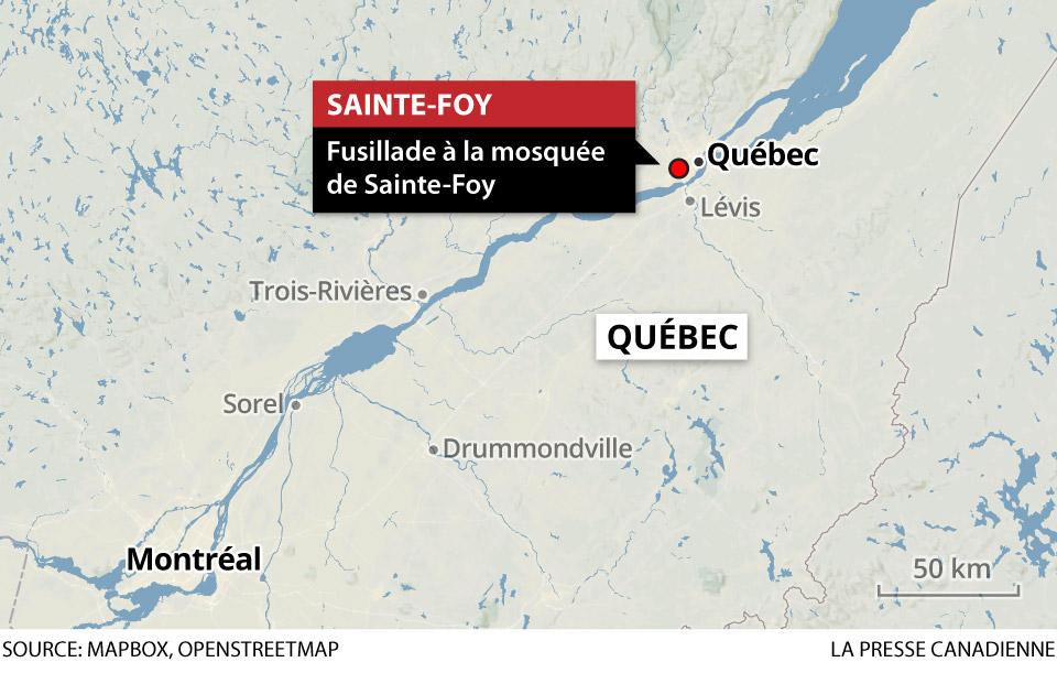 Mészárlás egy Sainte-Foy-i mecsetben.