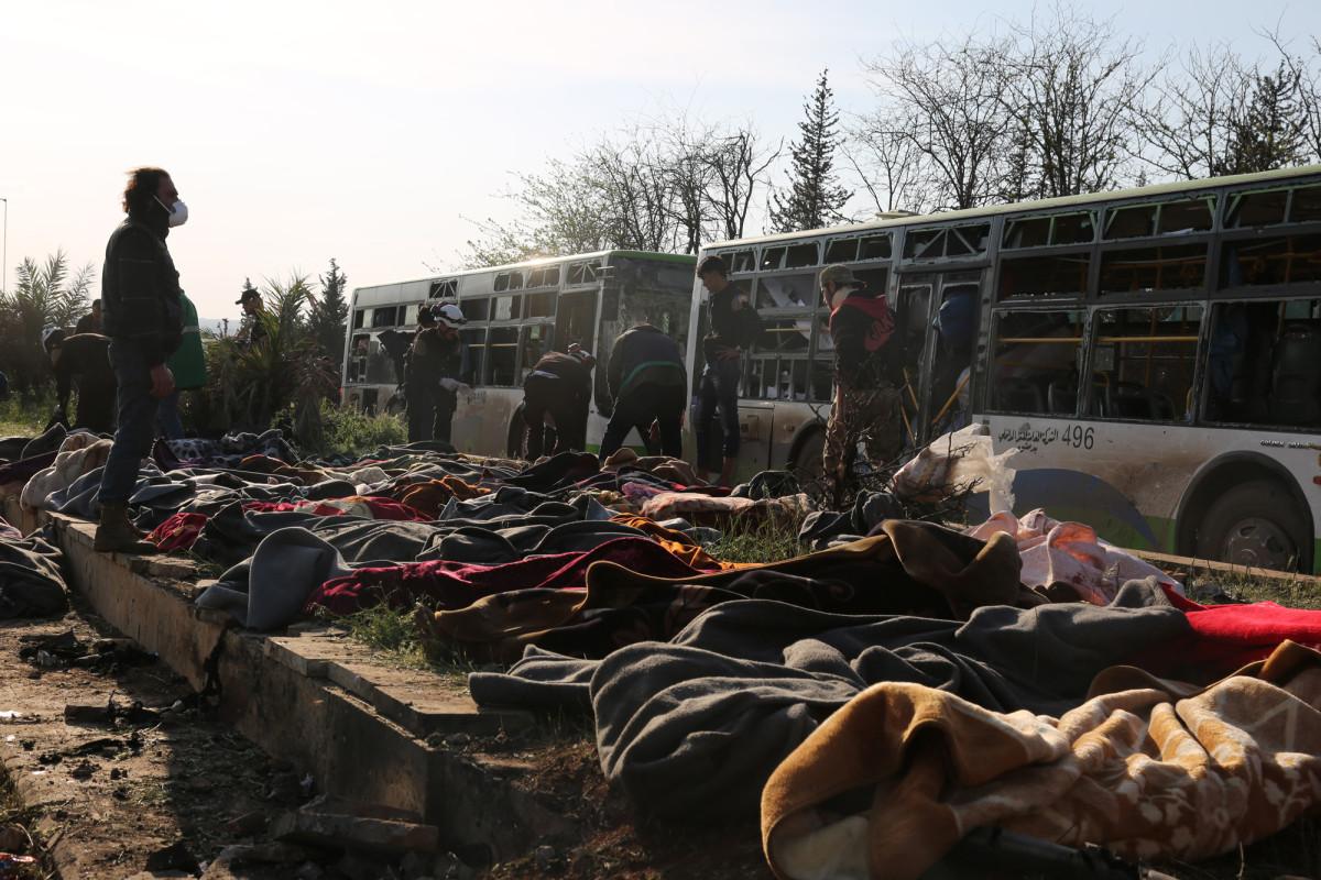 Aleppó közelében történt buszkonvoj-robbantás (2017. ápr. 15-én)