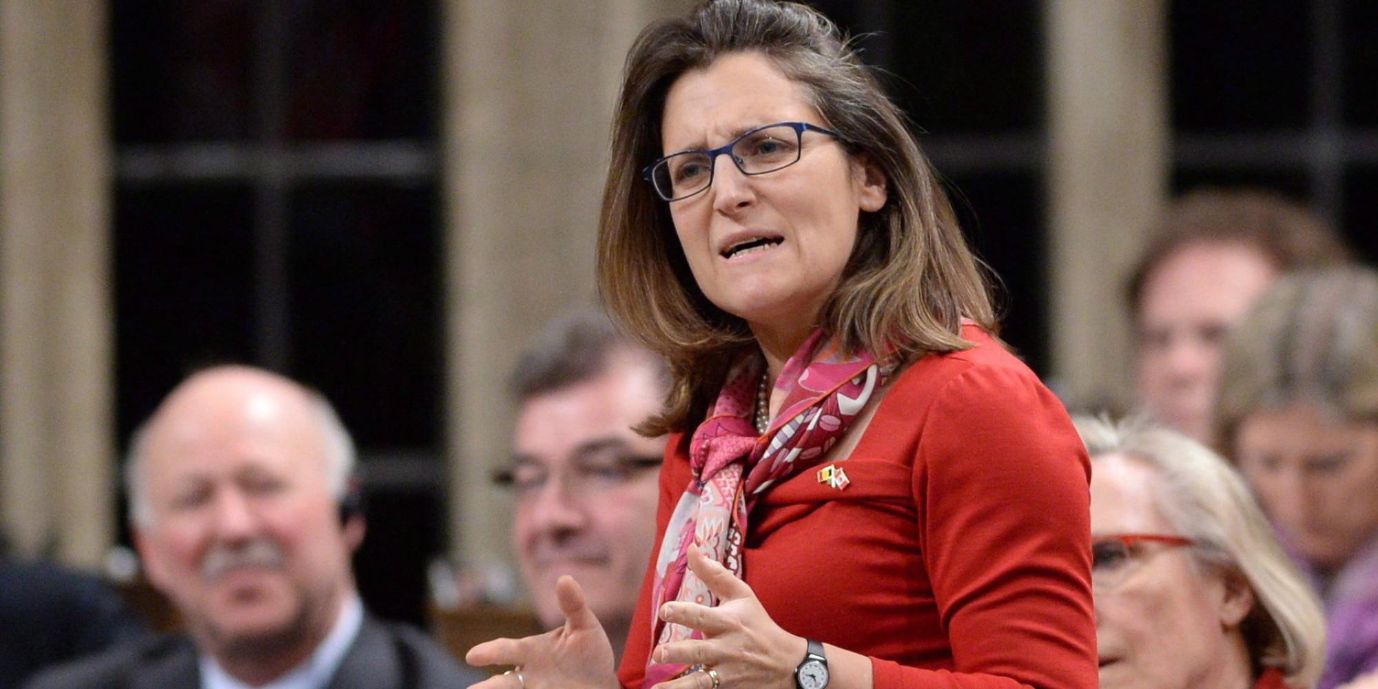 Chrystia Freeland, Kanada külügyminisztere.