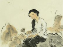 Chinese girl sitting alone / Catherine Jao