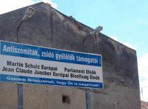 """Üzenet a ház falán az európai """"antiszemitákról"""""""