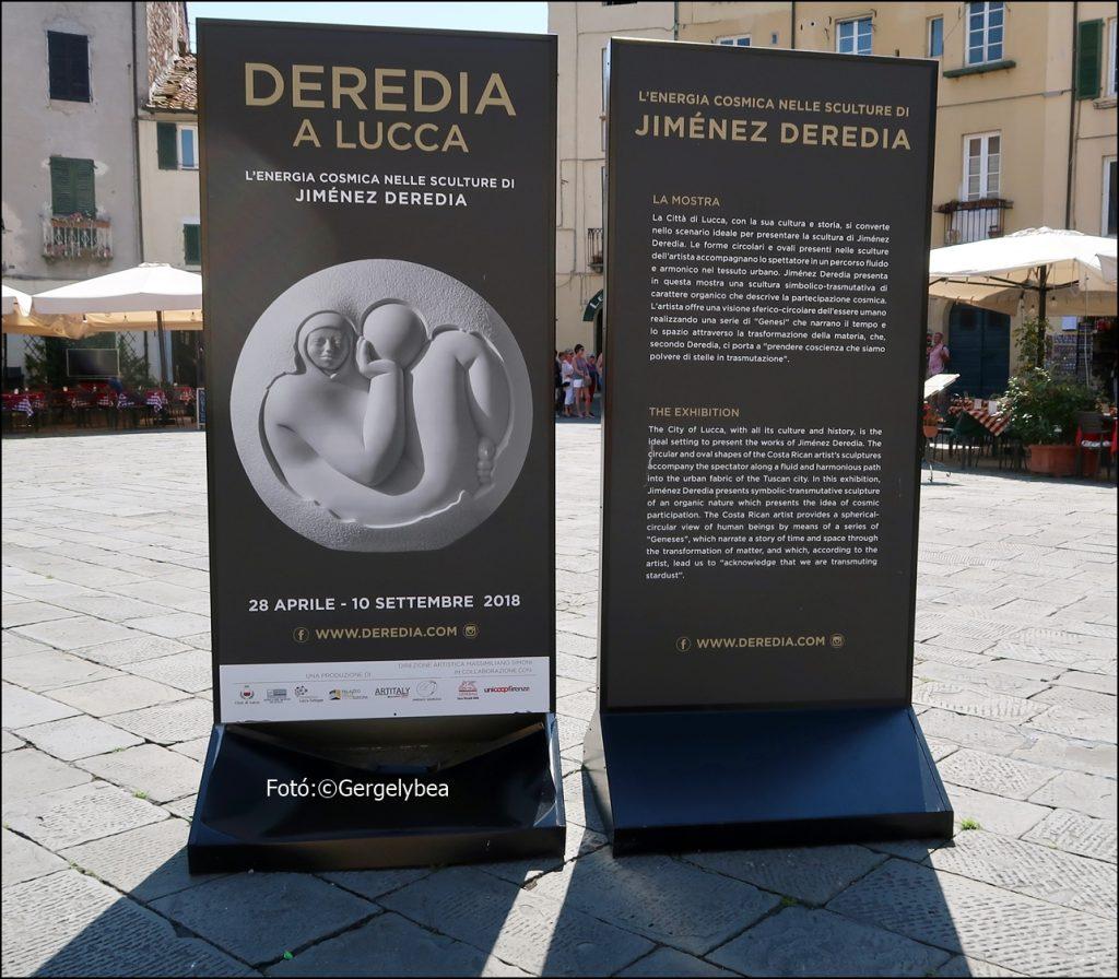 Jorge Jiménez Deredia szobrász kiállítása Olaszországban, Lucca városában