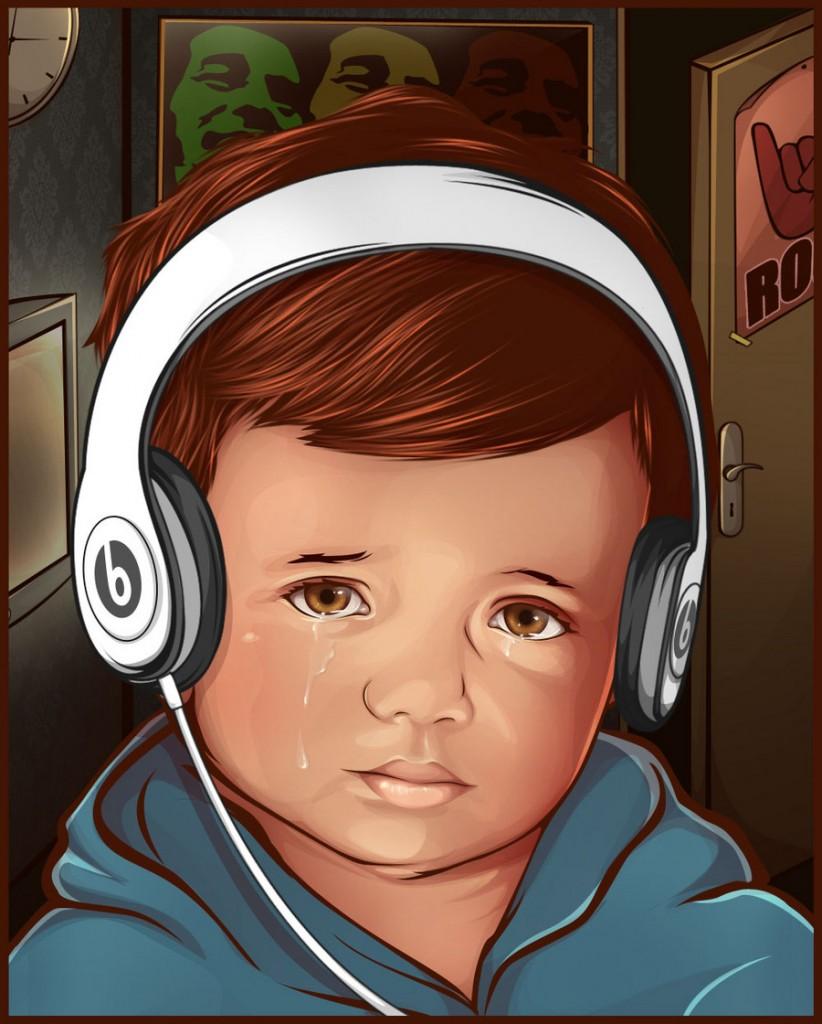 Reinvent The Crying Boy painting (Menino da Lagrima) / skewness888